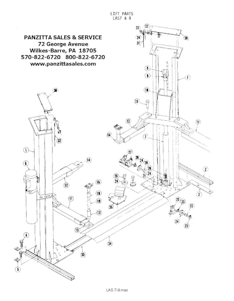 Alm Lift Parts Manual