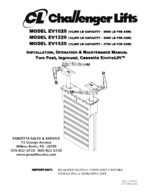 Parts Manuals Panzitta Sales Amp Service