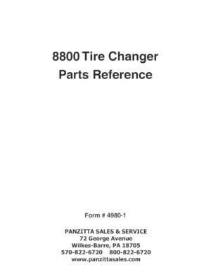 Parts Manuals Panzitta Sales Amp Service