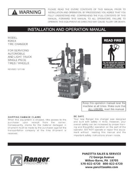 BendPak / Ranger R26EX Parts – Panzitta Sales & Service on