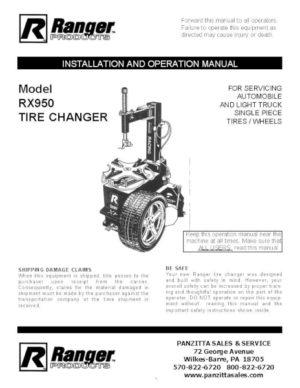 on ranger r26ex tire machine wiring diagram