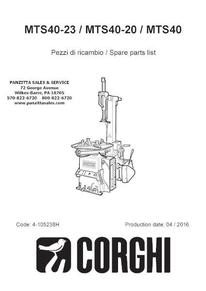 Corghi MTS40-23, MTS40-20, MTS40 Parts – Panzitta Sales